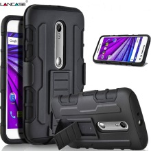 For Moto G4 Plus Case Armor Case Hybrid Fundas Belt Clip Holster Kickstand Silicon Cover For MOTO G4 Plus G4 Play G3 G1 X Play(Hong Kong)