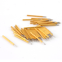 50pcs P75-B1 Spring Test Probes Pogo Pins Cusp Spear Head Dia 1.02mm 100g For Testing Tools