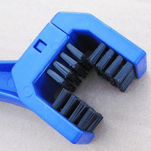Outdoor Blue Red Plastic Cycling Motorcycle Bicycle Chain Clean Brush Gear Grunge Brush Cleaner Cleaner Scrubber Tool