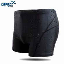 Copozz New Men Swim Suit Waterproof Square Leg Elastic Swimwear Surfing Beach Swimming Trunks Short Brief