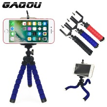 GAQOU Tripod + Clip Stand Mini Flexible For Camera Mobile Phone Holder Stand Flexible Octopus Sponge Tripod Bracket Stand Holder(China)