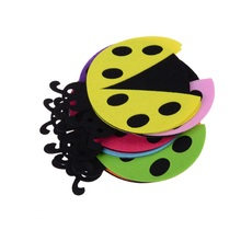 Kawaii beetle Patch random color DIY Decoration Accessories Home Children's bedroom Living room decor Non-Woven Fabric Patch(China)