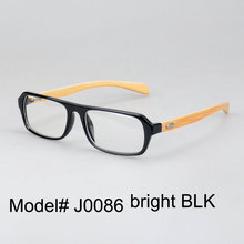 J0086 new arrival fashionable comfortable PC frame bamboo temple optical frame eyeglasses spectacles eyewear(China)