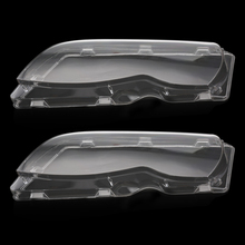 2Pcs Car Headlight Fog Light Lens Clear Lens Headlamp Cover Left & Right For Mercedes BMW E46 2002-2006 Car Styling(China)