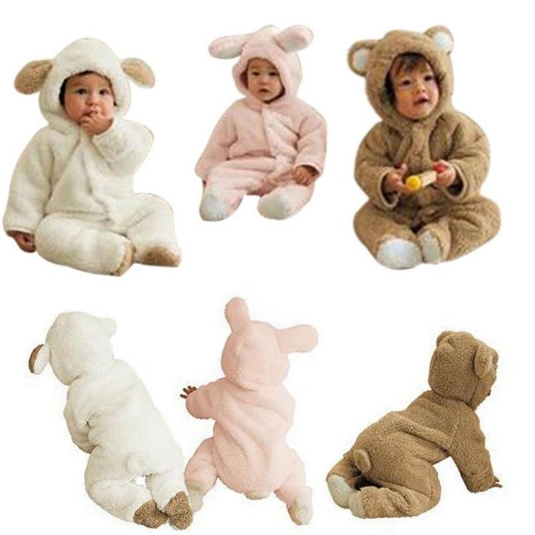 kids children Baby Rompers baby clothes ainimal Velvet Warm jumpsuit creeper  S0902<br><br>Aliexpress