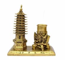 Wenchang Tower Nine Layer Articles Study Pen Case Decorations Arts And Cafts Furnishings(China)