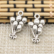 Buy 10pcs Charms bunch balloons 23*13mm Tibetan Silver Plated Pendants Antique Jewelry Making DIY Handmade Craft for $1.36 in AliExpress store