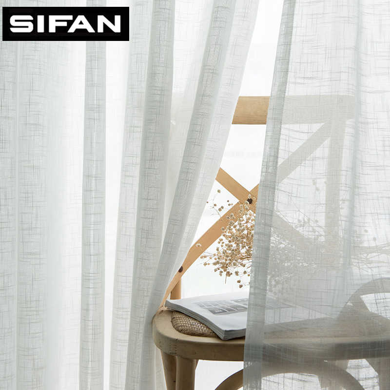 Japan Solid Tulle Curtains for Bedroom Window Sheer Curtains for Living Room Kitchen Modern Voile Curtain Blinds Drapes