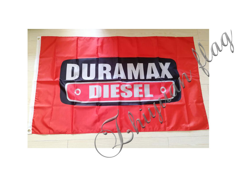 Duramax Diesel Banner 3x5 ft Flag Garage Shop Wall Decor GM Chevrolet V8 GMC