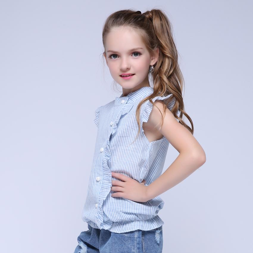 Girl Shirt Brand 17 Cotton Girls White Blouses High Quality Solid Teenage School Uniform Shirt Long Sleeve Spring Kids Clothes 6