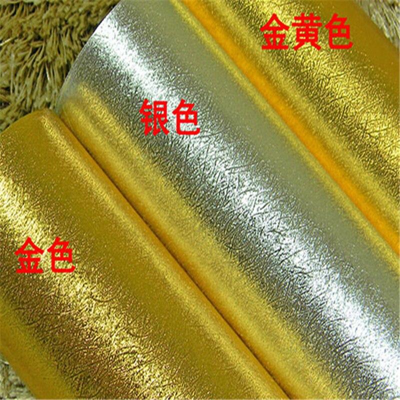 beibehang Gold silver brushed gold foil wallpaper matte reflective gold foil paper KTV hotel ceiling ceiling wallpaper<br>