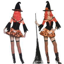 Lady New Sexy Halloween Costumes Costume Women Witch Cosplay Costume Make Up Party Dress Role-playing Dress B-4159