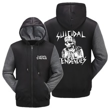 Suicidal Tendencies Jacket thrash metal punk rock Band SKELETON hoodie 5 style Unisex Zipper Coat USA size Jacket free shipping(China)