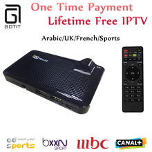 GOTiT HDWorld F6 DVB-S2 Satellite Receiver Receptor Lifetime Free Arabic Sky UK Indian IPTV Subscription Be1n O5n MBC Canal+ Sky
