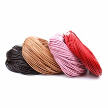10meters/lot 2mm Diameter Genuine Round Cow Leather Cord Jewelry Cord DIY Accessories