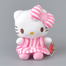 Stripe Skirt Hello Kitty Stuffed Plush Toy,  Baby Kids KT Doll Gift Free Shipping
