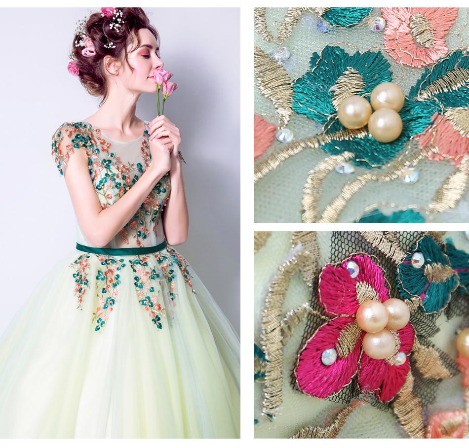 Angel Wedding Dress Marriage Bride Bridal Gown Vestido De Noiva 2017 Green, embroidery, the wizard of Oz 2217 11