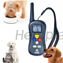 Heropie Newest Pet dog trainer Rechargeable and Waterproof Dog Training Collar Remote Shock electronic control Collar(China)