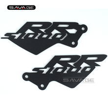 For BMW S1000RR 2010 2011 2012 2013 2014 Black Foot Peg Heel Plates Guard Protector Motorcycle Accessories(China)