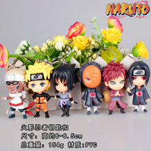 6pcs/lot Naruto Keychain Action PVC brinquedos Collection Figures toys