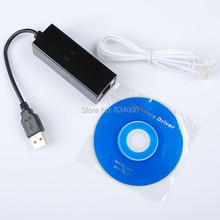 100pcs Free shipping DHL&External 56k USB fax modem Dial Up PC Fax Voice with win7 win8(China)