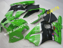 Hot Sales,For Kawasaki Ninja Fairing ZX-12R 02-04 ZX 12R 2002-2004 ZX12R ABS Green Black Fairing For Sale (Injection molding)