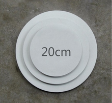 20cm Round MDF back staple stretched canvas paintings