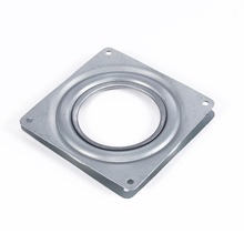 "Bearing 4"" Square Rotating Swivel Plate Metal Lazy Susan Bearing Turntable TV Rack Desk Turntable Plate Tool"