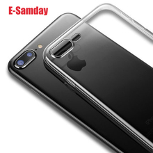Esamday Ultra Thin Soft TPU Original Transparent Phone Case For iPhone X 6 6s 7 7Plus 6sPlus 8 8P Crystal Clear Silicon Cover