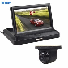 DIYKIT Wired 5 Inch Rear View Monitor Car Monitor Waterproof HD Rear View Car Camera Parking System Kit(China)