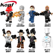 Single Sale Super Heroes Invisible Man Hugo Strange Arkham Flash Edward Oswald Bricks Building Blocks Children Gift Toys PG8076