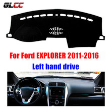 Auto Dashboard Cover For Ford EXPLORER 2011-2016 Left hand drive Car Dashmat Instrument Platform Mat Automobile Accessories(China)