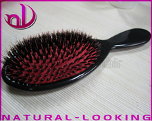 2017 1pcs/lot Hair Wild Boar Bristle brush 100% natural hair Comb Excellent professional hair extension loop brush Lower Price(China)