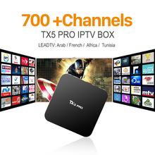 TX5pro Smart TV Box Android 6.0 Amlogic S905X Quad Core Dual Band Wifi 4K Bluetooth Media Player with Free IPTV Europe Arabic