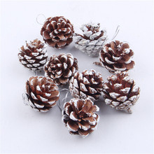 9PCS/LOT Christmas Tree Hanging Pine Cone Ornament For Christmas Tree Decoration