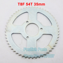 Silver Rear Sprocket T8F 54T 35mm For 47cc 49cc Mini Dirt Baby Motocross Bikes Motorcycle 54 Tooth