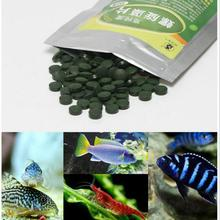 100g Aquarium Spirulina Flake Tablets For Crystal Red Shrimp Guppies Small Shaped Swordfish Fish Tank Precipitated Pellet Food(China)