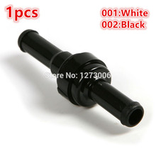 "NEW 1PCS 8mm 5/16"" Black White Inline Check Valve Fuel Diesel Gas Liquid Air One Way HHO Water Car Stying Black/white HOT SALE(China)"