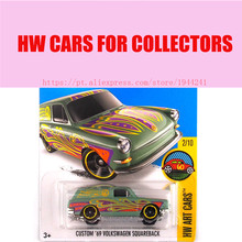 Toy cars 2016 Hot Wheels 1:64 custom 69th volkswagen squarback cars Models Metal Diecast Car Collection Kids Toys Vehicle(China)