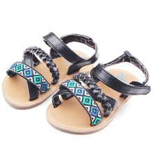 Baby Sandals Girl Soft Sole Black Red sapato infant Kids Shoe 0-18 Month 2 New