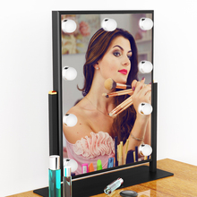 2017 Newest Table Top Lighted Beauty Salon Glam LED Hollywood Vanity Makeup Mirror with Lights Bulbs(China)