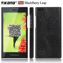 TIKONO For BlackBerry Leap Case Cover Crocodile Skin Leather PC Plastic Hard Back Cover Phone Case for BlackBerry Leap(China)