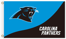 Top design Carolina Panthers flag 90x150cm outdoor polyester banner with 2 Metal Grommets Wholesale(China)