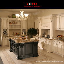 Best selling oak kitchen cabinets with dark luxury island