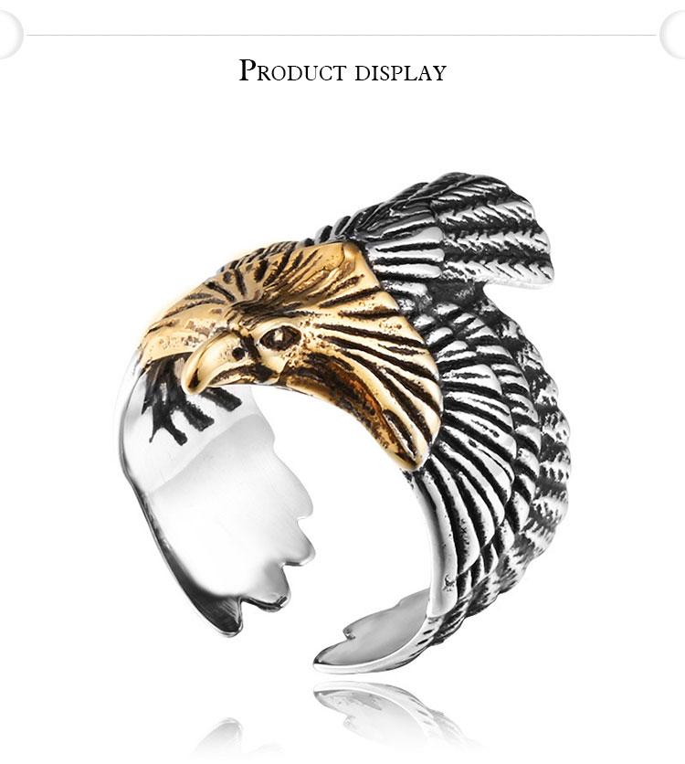 แหวนสวยๆ Code 044 แหวน Flying Eagle สแตนเลส เท่ห์จัด6