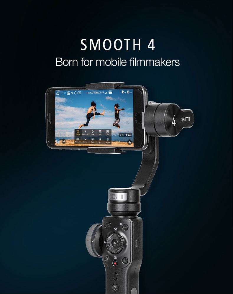 Zhiyun Smooth 4 3-Axis Handheld Video Stabilizer Bluetooth Gimbal