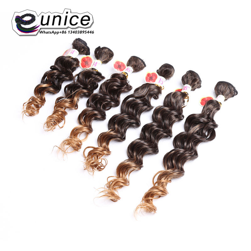 Jerry Curly Weave Hair Extension Sew in Synthetic weaving Wefts (3)