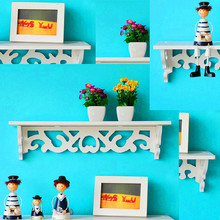 1pc/lot White Wall Hanging Shelf Goods Convenient Rack Storage Holder Home Bedroom Decoration Ledge Home Decor S/M YL882499