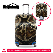 Snakeskin 3D Printing Travel Luggage Protective Cover For 18-30 Inch Suitcase Stretch Luggage Case Cover Elastic Trolley Cover