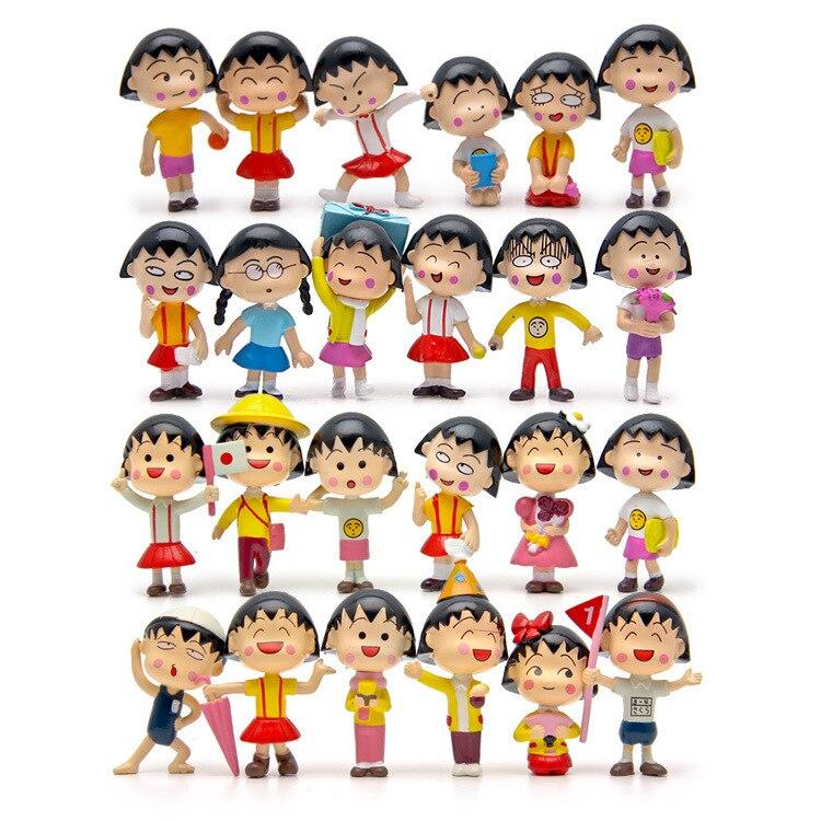 24pcs/lot Chibi Maruko Chan Figures 3-5cm PVC Collection Chibi Maruko Chan Toys Action Figure<br>
